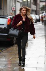 Hayley Hughes Spotted make up free as she heads to Rosso Restaurant in Manchester