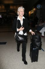 Helen Mirren At LAX Airport