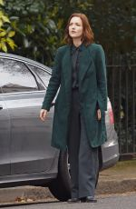 Holliday Grainger On set of The Capture in London