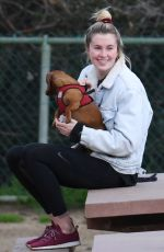 Ireland Baldwin At the Dog Park in the Hollywood Hills of Los Angeles