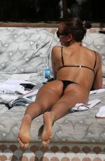 Irina Shayk In bikini during a holiday to Miami Beach in Florida