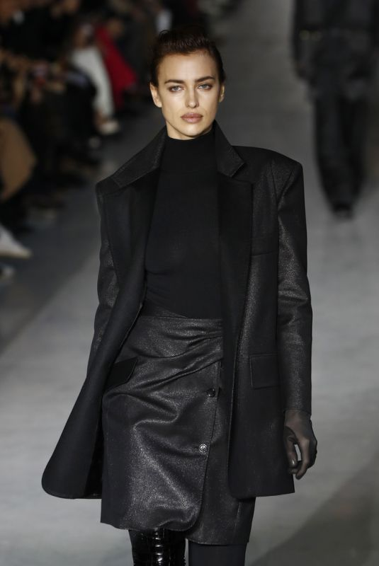 Irina Shayk Walking the runway at the max mara milan fashion Week