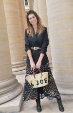 Iris Mittenaere and Laury Thilleman At Paul and Joe show, Arrivals, Fall Winter 2019, Paris Fashion Week