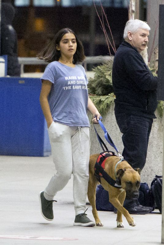 Isabela Moner Heading to work on