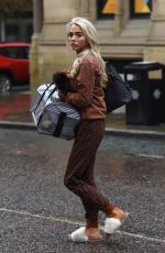 Isabelle Warburton Leaving Evelyn House Of Hair and Beauty in Manchester