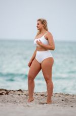 Iskra Lawrence In a bikini during a photoshoot at Miami Beach