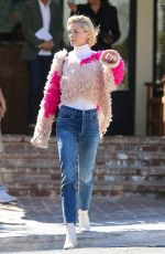 Jaime King Stepped out after a meeting at the Hotel San Vinente Inn in Los Angeles