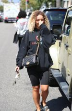 Jena Frumes Shops with friends in Beverly Hills
