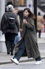 Jenna Coleman Out for coffee in London