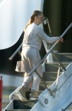 Jennifer Lopez Boarding a private jet in Miami
