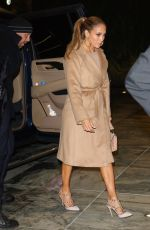 Jennifer Lopez Heads out for late night meeting in NYC