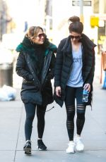 Jennifer Lopez Out for a morning gym workout session with her sister Lynda in NYC