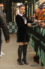 Joey King Outside the BUILD Series in New York City