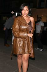 Jordyn Woods Arriving at a bar in London