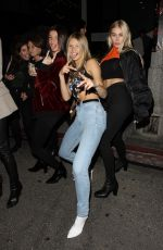 Josie Canseco Enjoys a night out at Poppy with her friends in West Hollywood