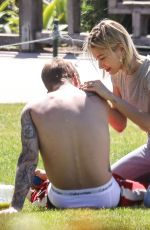 Justin Bieber and wifey Hailey Baldwin share a very intimate moment while out at Newport Beach