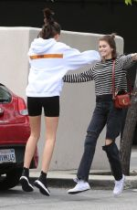 Kaia Gerber & Charlotte Lawrence are reunited in Brentwood