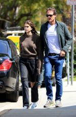 Kaia Gerber Enjoyed the California sunshine today while stepping out for lunch with her dad