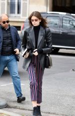 Kaia Gerber Goes to Givenchy fitting at Avenue Montaigne in Paris