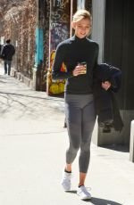 Karlie Kloss Heading home after her workout in NYC