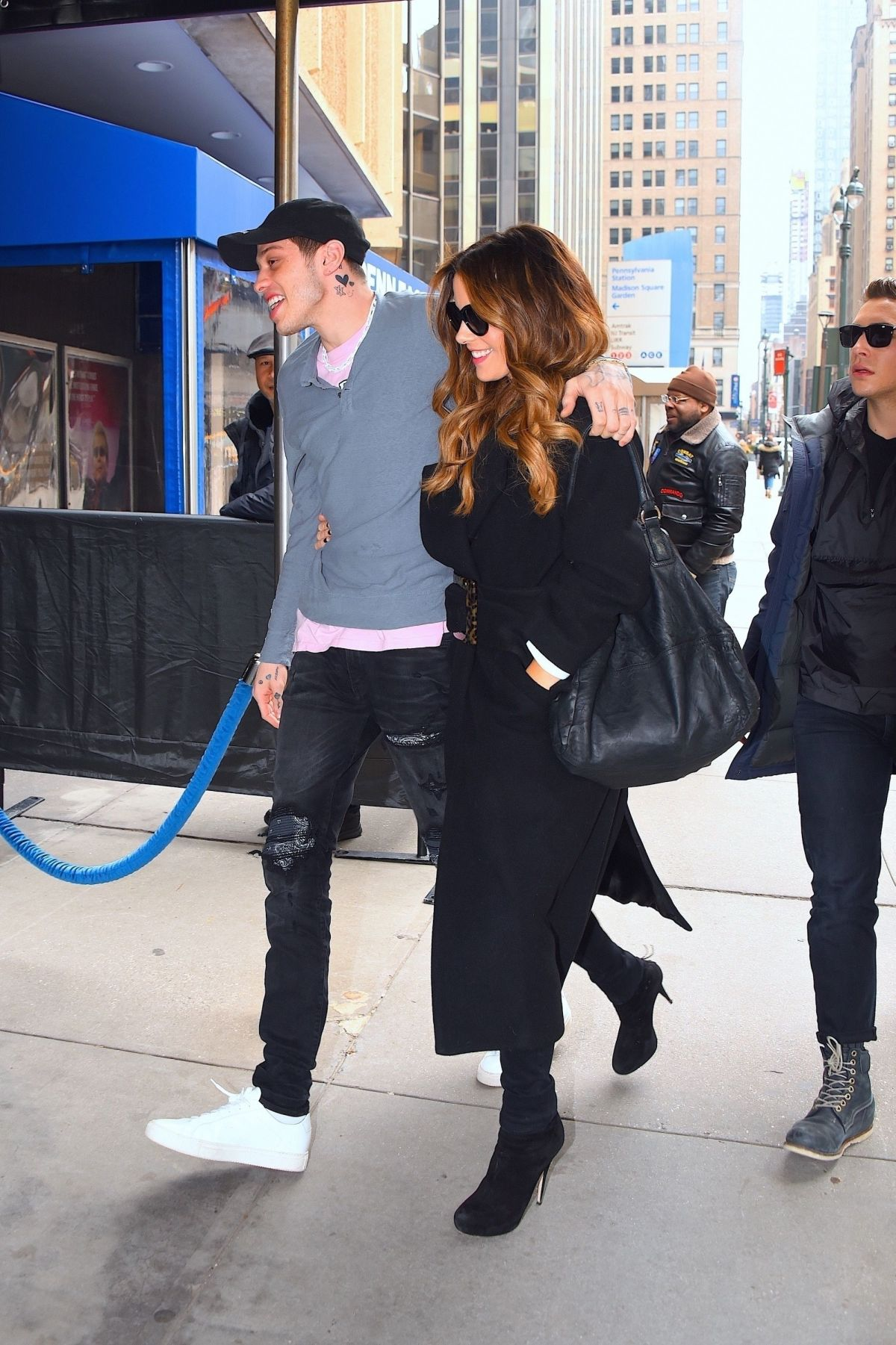 Kate Beckinsale And Pete Davidson Arriving At The Ny