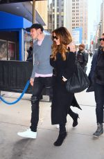 Kate Beckinsale and Pete Davidson arriving at the NY Rangers game at Madison Square Garden in NYC