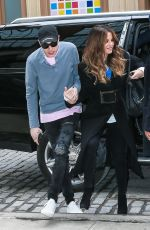 Kate Beckinsale and Pete Davidson leaving the NY Rangers game at Madison Square Garden in NYC