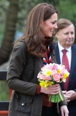 Kate Middleton Visits the Scouts Headquarters at Gilwell Park in Essex