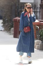 Katie Holmes On the phone out in NYC