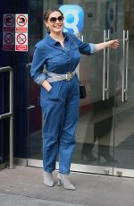 Kelly Brook Arriving at Global studios for her radio show in London