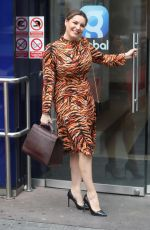 Kelly Brook At Heart Radio Studios in London