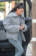 Kim Kardashian Keeps it casual for dinner in West Hollywood