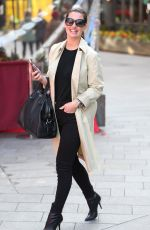 Kirsty Gallacher Leaving the Global Radio Studios in London