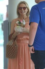 Kylie Minogue At Perth Airport in Australia
