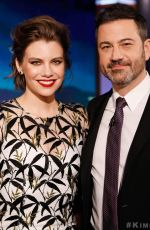 Lauren Cohan At Jimmy Kimmel live