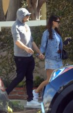 Leonardo DiCaprio attempts to go incognito as he and girlfriend Camila Morrone go shopping on Melrose Place in West Hollywood