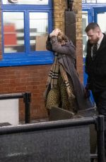 Lily James Leaving the Noël Coward Theatre in London