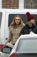 Lily-Rose Depp On the set of