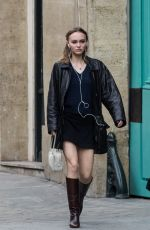 Lily-Rose Depp Out in Paris