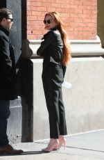 Lindsay Lohan Stepped out in New York City
