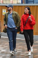 Lucy Mecklenburgh Out for lunch in Manchester