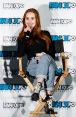 Madelaine Petsch Speaks on stage during day 3 of Fan Expo Vancouver at Vancouver Convention Centre in Vancouver