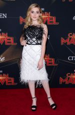 "Meg Donnelly At Marvel Studios ""Captain Marvel"" premiere in Hollywood"