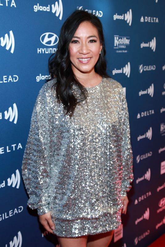 Michelle Kwan At 30th Annual GLAAD Media Awards Los Angeles