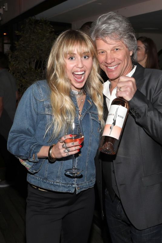 Miley Cyrus At Hampton Water Rosé Celebrates LA Launch in West Hollywood
