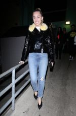 Miley Cyrus Exiting from TomTom Bar in West Hollywood