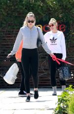 Miley Cyrus Steps out for an afternoon lunch at SunCafe Organic Cuisine in Studio City