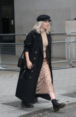 Mollie King Leaving BBC Studio in London