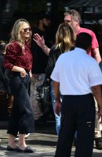 Molly Sims and Jeff Garland catch up over lunch at Joan