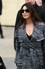 Monica Bellucci Poses before the Chanel show as part of Paris Fashion Week Fall/Winter 2019-2020